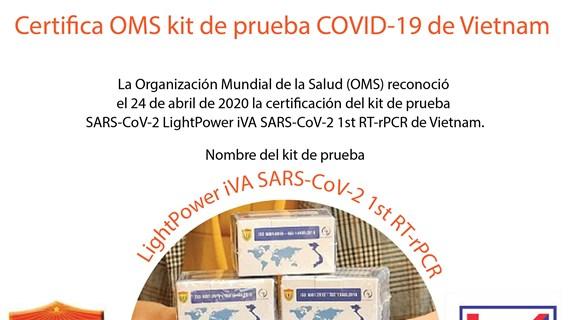 [Info] Certifica OMS kit de prueba COVID-19 de Vietnam