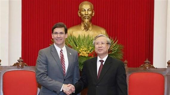 Vietnam y Estados Unidos por incrementar respaldo mutuo en misiones internacionales