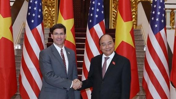 Reafirman apoyo del Gobierno vietnamita a lazos en defensa con EE.UU.