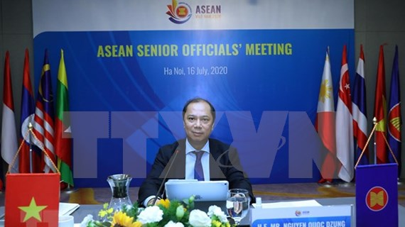 Efectúan reunión en línea de altos funcionarios de la ASEAN