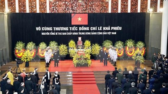 Efectúan homenaje póstumo a Le Kha Phieu, exsecretario general del Partido Comunista de Vietnam