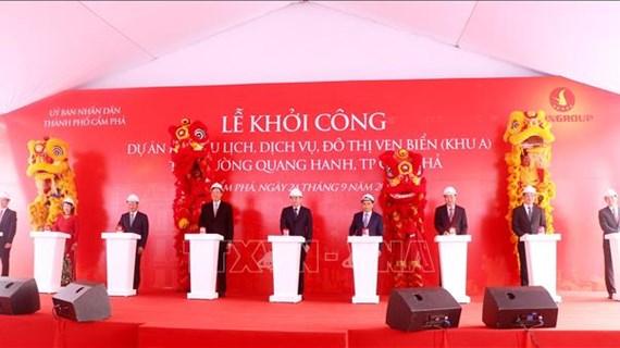 Inician en provincia vietnamita construcción de zona turística costera