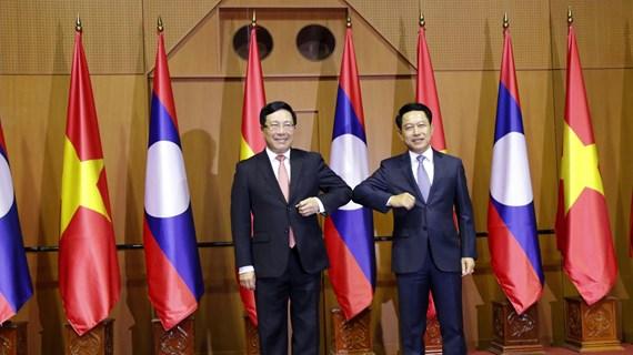 Consulta política Vietnam-Laos en Vientiane