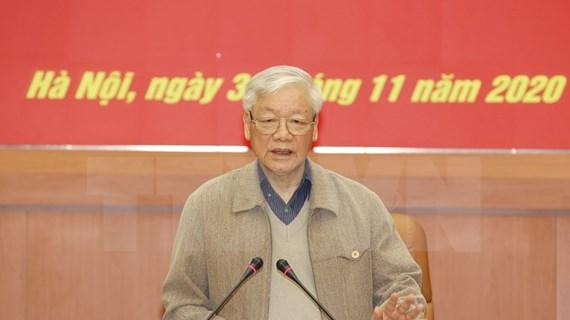 Máximo dirigente vietnamita asiste a reunión de Comisión Militar Central