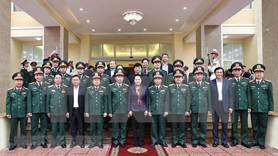 Presidenta del Parlamento de Vietnam exalta logros de la Zona Militar 4