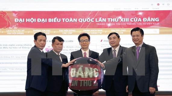 VNA lanza portal informativo especial sobre XIII Congreso Nacional del Partido Comunista de Vietnam
