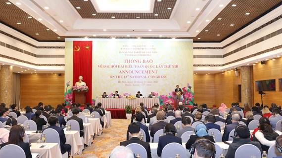 Informan a diplomáticos extranjeros sobre XIII Congreso Nacional del Partido Comunista de Vietnam