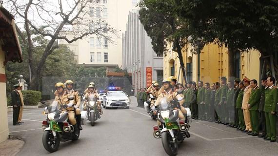 Policía de Hanoi despliega medidas para garantizar seguridad del XIII Congreso Nacional del Partido