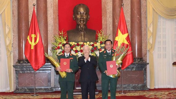 Promueven a rango de coronel general a viceministros de Defensa de Vietnam
