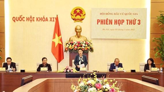 Presidenta del Parlamento preside tercera sesión del Consejo Electoral Nacional