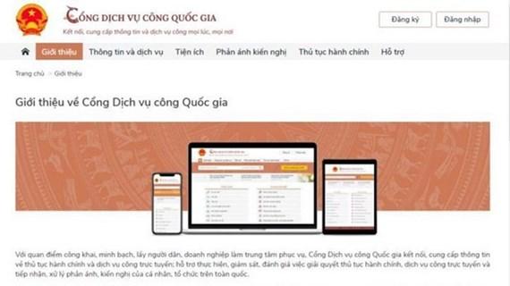 Centenas de miles de solicitudes se envían al Portal Nacional de Servicios Públicos de Vietnam