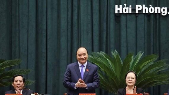 Primer ministro de Vietnam se reúne con electores de la ciudad de Hai Phong
