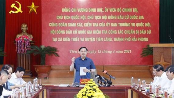 Presidente del Parlamento de Vietnam supervisa preparativos de próximas elecciones