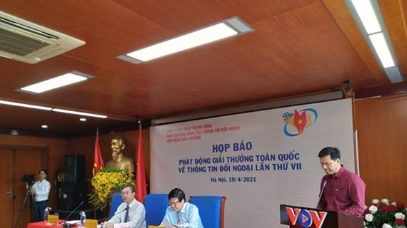 Lanzan convocatoria del VII Premio Nacional de Información al Exterior de Vietnam