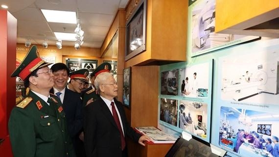Máximo dirigente partidista participa en 70 aniversario del Día Tradicional del Hospital Central Militar 108