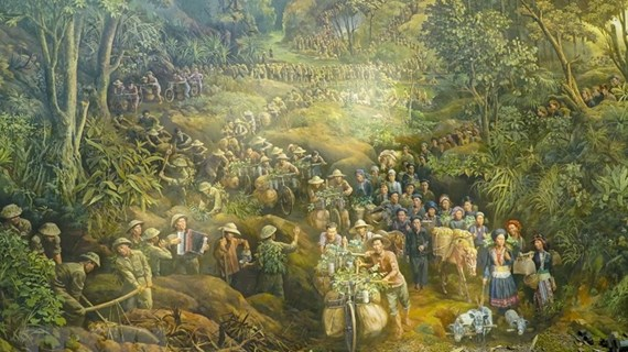 Concluida pintura panorámica sobre histórica batalla Dien Bien Phu