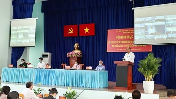 Presidente de Vietnam dialoga con electores en Ciudad Ho Chi Minh