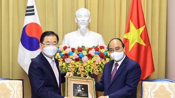 Presidente de Vietnam reitera determinación de promover cooperación con Corea del Sur