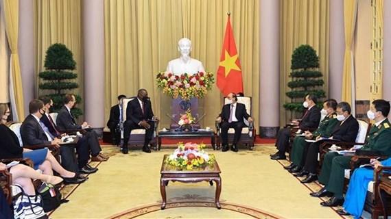 Presidente de Vietnam recibe al secretario de Defensa de Estados Unidos