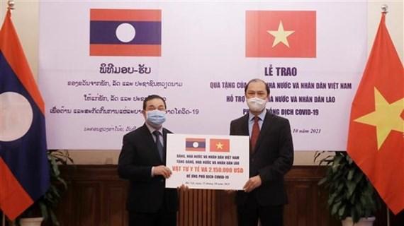 Vietnam ofrece asistencia millonaria a lucha contra el COVID-19 en Laos