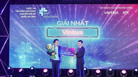 Entregan premios del concurso de soluciones para transformación digital de Vietnam