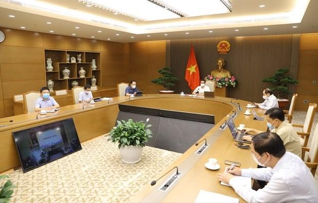 Vicepremier vietnamita pide frenar expansion del COVID-19 en zonas industriales hinh anh 1