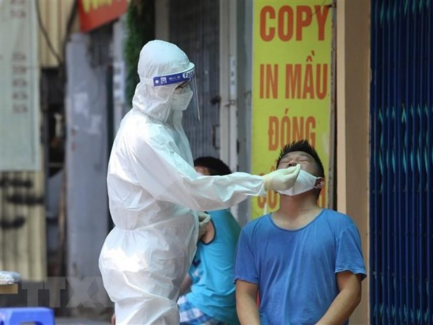 Reporta Hanoi 15 nuevos casos del COVID-19 hinh anh 1