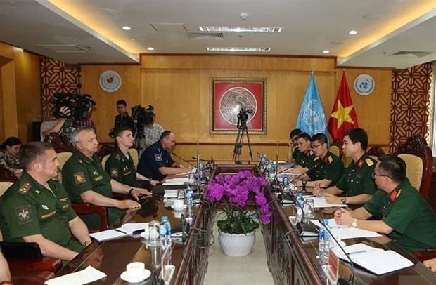 [Foto] Vietnam reitera compromiso de contribuir a la paz mundial hinh anh 1