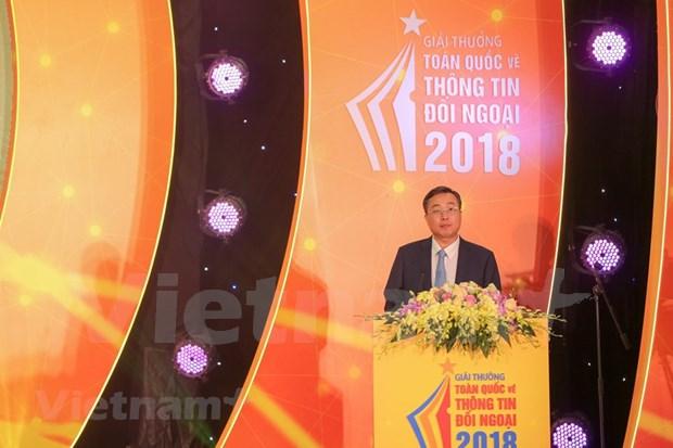 [Foto] Entregan en Vietnam los premios de informacion al exterior hinh anh 1