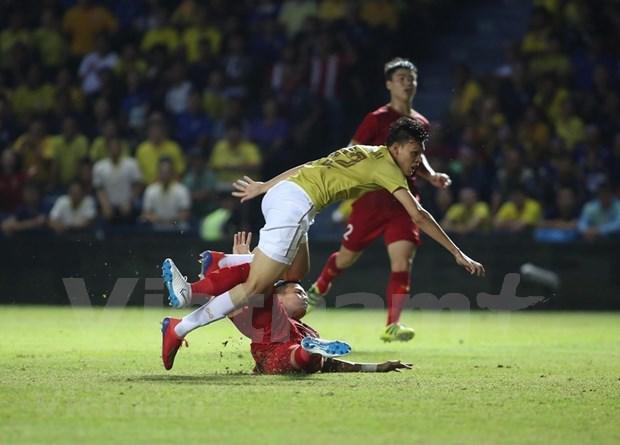 [Foto] Vietnam vence 1-0 a Tailandia en la Copa del Rey hinh anh 4