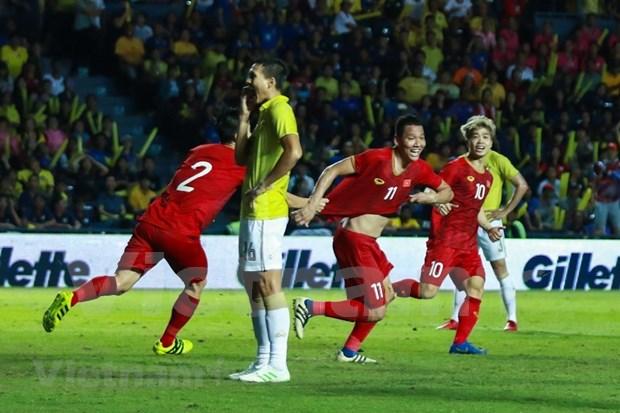 [Foto] Vietnam vence 1-0 a Tailandia en la Copa del Rey hinh anh 1