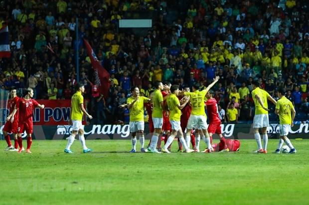 [Foto] Vietnam vence 1-0 a Tailandia en la Copa del Rey hinh anh 8