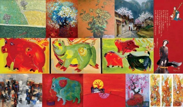 Renace el zodiaco vietnamita a traves de la pintura hinh anh 1