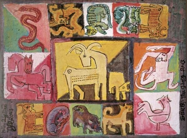 Renace el zodiaco vietnamita a traves de la pintura hinh anh 3