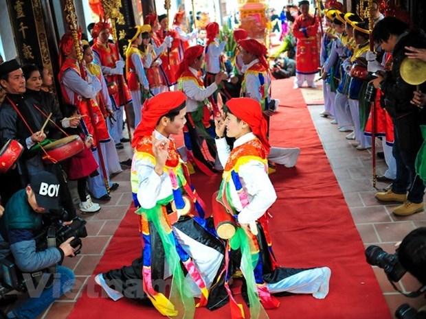 Hanoi dispone de otros dos patrimonios culturales nacionales intangibles hinh anh 6
