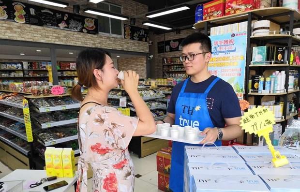 Exportan primer lote de leche de Vietnam al mercado chino hinh anh 1