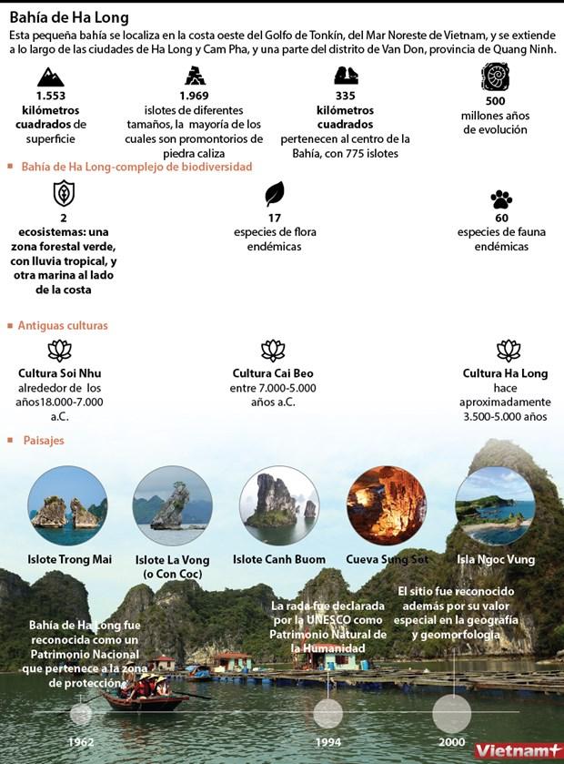 [Info] Bahia de Ha Long: Patrimonio Natural de la Humanidad hinh anh 1