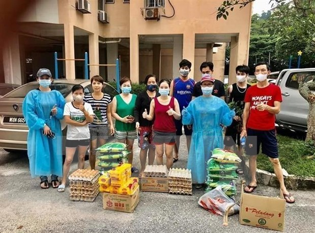 Apoyan a connacionales vietnamitas en Malasia en combate antiepidemico hinh anh 1