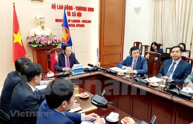 ASEAN garantiza seguridad social para grupos vulnerables afectados por COVID-19 hinh anh 1
