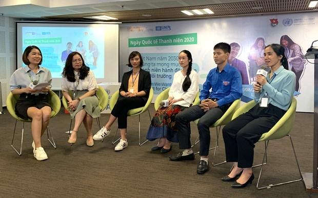 Jovenes vietnamitas llaman a actuar a favor de un medioambiente verde hinh anh 2