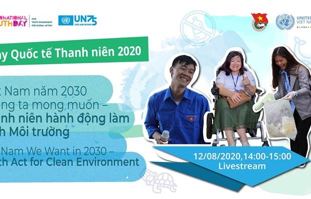 Jovenes vietnamitas llaman a actuar a favor de un medioambiente verde hinh anh 1