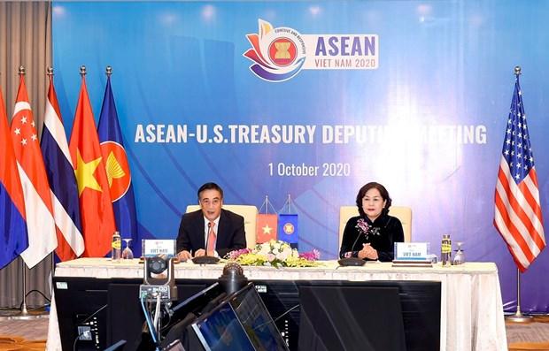 Dialogo de cooperacion financiero-bancaria entre ASEAN y Estados Unidos hinh anh 1