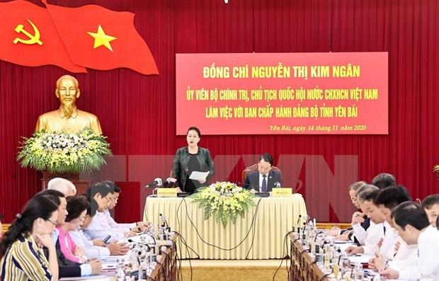 Presidenta del Parlamento vietnamita exige prestar atencion al progreso de provincia de Yen Bai hinh anh 1