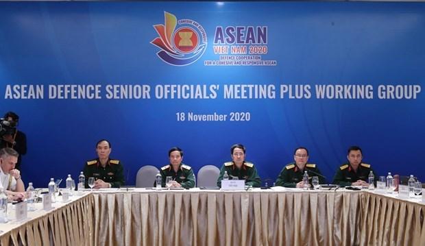 Efectuan en Hanoi reunion del Grupo de Trabajo de Altos Funcionarios de la ASEAN ampliada hinh anh 1