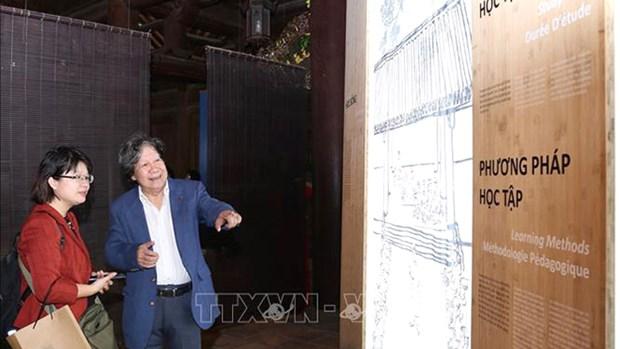 Inauguran exhibicion en Hanoi sobre el destacado educador Chu Van An hinh anh 1