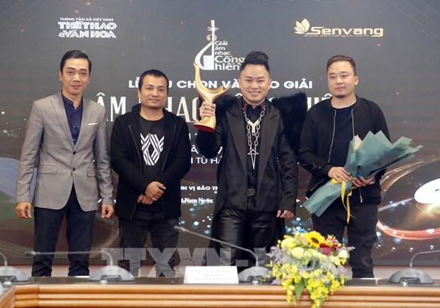 """Premios """"Cong hien"""" de VNA reconocen a los artistas vietnamitas mas dedicados a la musica hinh anh 2"""