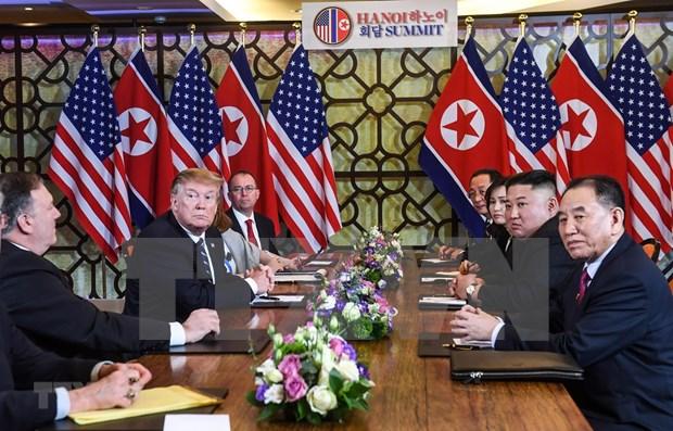 Reunion de Trump-Kim concluye antes de lo esperado sin lograr ningun acuerdo hinh anh 1