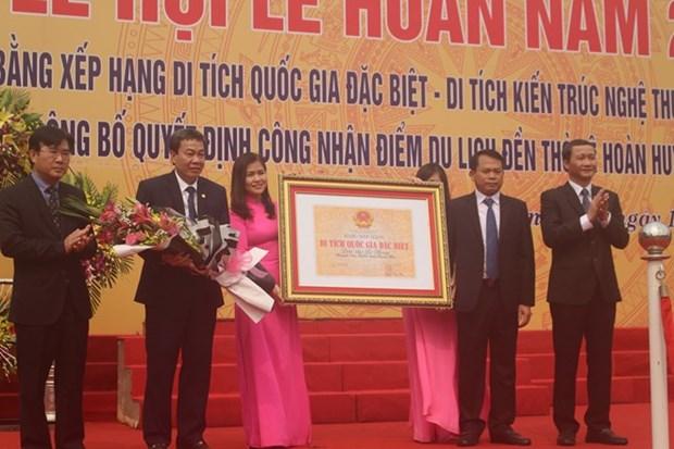 Reconocen templo antiguo en provincia vietnamita de Thanh Hoa como sitio especial de reliquia nacional hinh anh 1