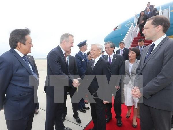 Lider partidista de Vietnam arriba a Estados Unidos hinh anh 1