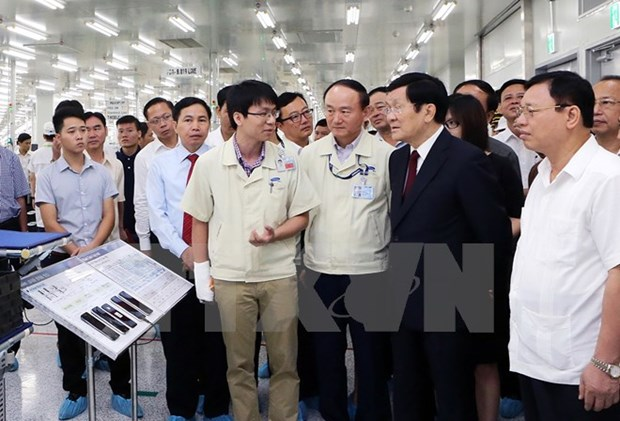 Presidente vietnamita realiza visita a Thai Nguyen hinh anh 1